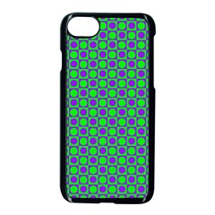 Friendly Retro Pattern A Apple iPhone 7 Seamless Case (Black)