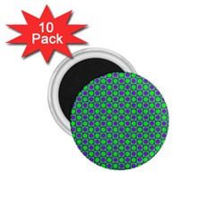 Friendly Retro Pattern A 1.75  Magnets (10 pack)