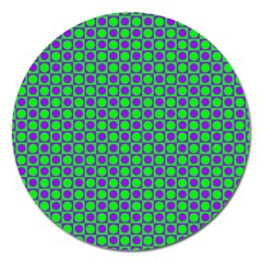 Friendly Retro Pattern A Magnet 5  (Round)