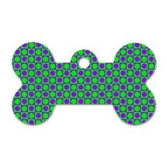 Friendly Retro Pattern A Dog Tag Bone (One Side)