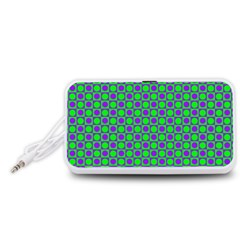 Friendly Retro Pattern A Portable Speaker (White)