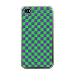 Friendly Retro Pattern A Apple iPhone 4 Case (Clear)