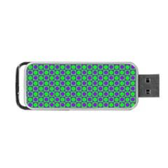 Friendly Retro Pattern A Portable USB Flash (One Side)