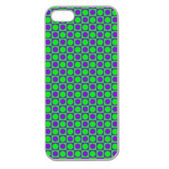 Friendly Retro Pattern A Apple Seamless iPhone 5 Case (Clear)