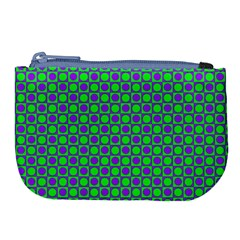 Friendly Retro Pattern A Large Coin Purse