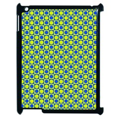 Friendly Retro Pattern C Apple iPad 2 Case (Black)
