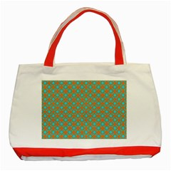 Friendly Retro Pattern D Classic Tote Bag (Red)