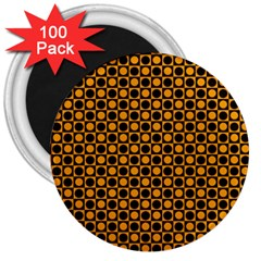 Friendly Retro Pattern F 3  Magnets (100 pack)