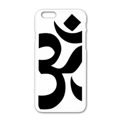 Hindu Om Symbol  Apple Iphone 6/6s White Enamel Case