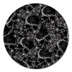 Skulls Pattern Magnet 5  (round)