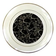 Skulls Pattern Porcelain Plates