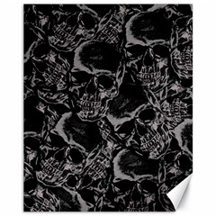 Skulls Pattern Canvas 11  X 14