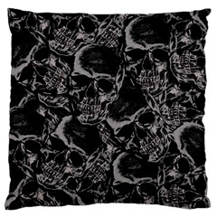 Skulls Pattern Standard Flano Cushion Case (one Side)