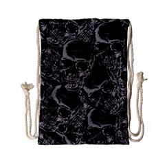 Skulls Pattern Drawstring Bag (small)