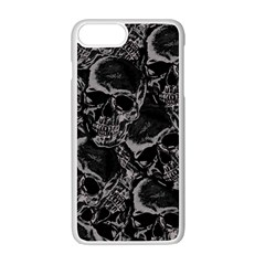Skulls Pattern Apple Iphone 7 Plus White Seamless Case