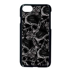 Skulls Pattern Apple Iphone 7 Seamless Case (black)