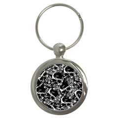Skulls Pattern Key Chains (round)