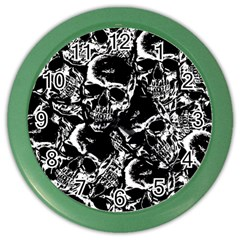 Skulls Pattern Color Wall Clocks