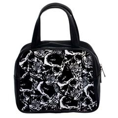 Skulls Pattern Classic Handbags (2 Sides)
