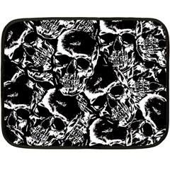 Skulls Pattern Double Sided Fleece Blanket (mini)