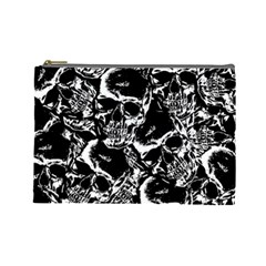 Skulls Pattern Cosmetic Bag (large)