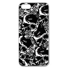 Skulls Pattern Apple Seamless Iphone 5 Case (clear)