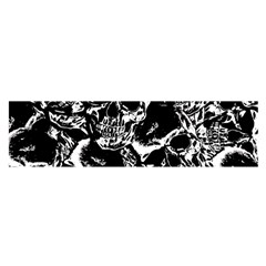 Skulls Pattern Satin Scarf (oblong)