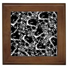 Skulls Pattern Framed Tiles