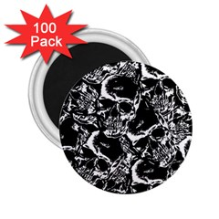 Skulls Pattern 2 25  Magnets (100 Pack)