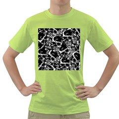 Skulls Pattern Green T Shirt