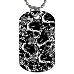 Skulls Pattern Dog Tag (one Side)