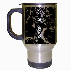 Skulls Pattern Travel Mug (silver Gray)