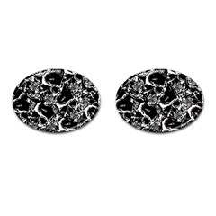 Skulls Pattern Cufflinks (oval)