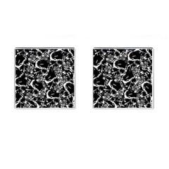 Skulls Pattern Cufflinks (square)