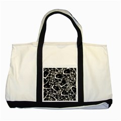 Skulls Pattern Two Tone Tote Bag