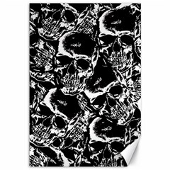 Skulls Pattern Canvas 12  X 18