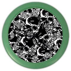 Skulls Pattern Color Wall Clocks