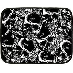 Skulls Pattern Double Sided Fleece Blanket (mini)