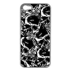 Skulls pattern Apple iPhone 5 Case (Silver)