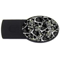 Skulls pattern USB Flash Drive Oval (1 GB)