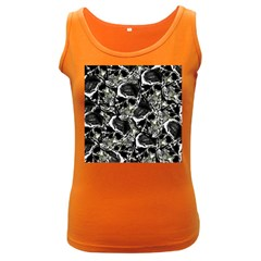 Skulls Pattern Women s Dark Tank Top
