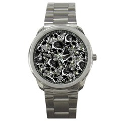 Skulls Pattern Sport Metal Watch