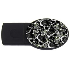 Skulls Pattern Usb Flash Drive Oval (4 Gb)