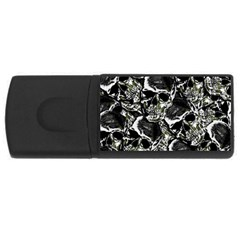 Skulls Pattern Usb Flash Drive Rectangular (4 Gb)