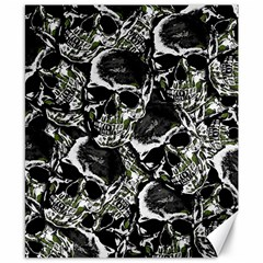 Skulls Pattern Canvas 8  X 10