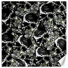 Skulls Pattern Canvas 12  X 12