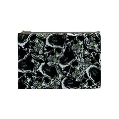 Skulls Pattern Cosmetic Bag (medium)