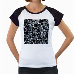 Skulls Pattern Women s Cap Sleeve T