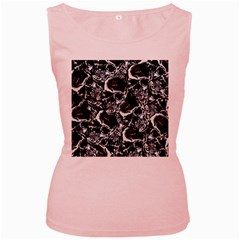 Skulls Pattern Women s Pink Tank Top