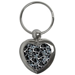 Skulls Pattern Key Chains (heart)